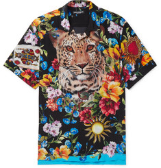 Dolce & Gabbana - Camp-Collar Printed Silk Shirt