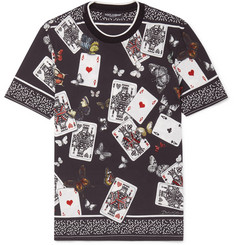 Dolce & Gabbana Printed Stretch-Cotton Jersey T-Shirt