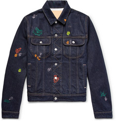Acne Studios Tent Gum Paint-Splattered Denim Jacket