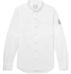 Moncler Gamme Bleu Slim-Fit Button-Down Collar Cotton Oxford Shirt