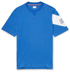 Moncler Gamme Bleu Slim-Fit Chevron Cotton-Jersey T-Shirt