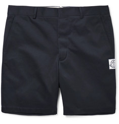 Moncler Gamme Bleu Slim-Fit Cotton-Gabardine Shorts