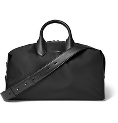 Alexander McQueen - Leather-Trimmed Shell Holdall