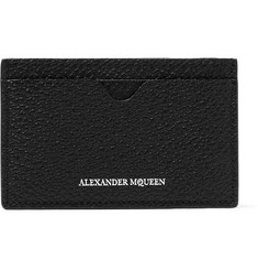 Alexander McQueen Pebble-Grain Leather Cardholder