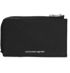 Alexander McQueen Full-Grain Leather Cardholder