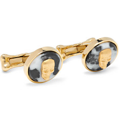 Alexander McQueen - Gold-Tone and Marble Cufflinks
