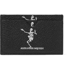 Alexander McQueen Printed Full-Grain Leather Cardholder