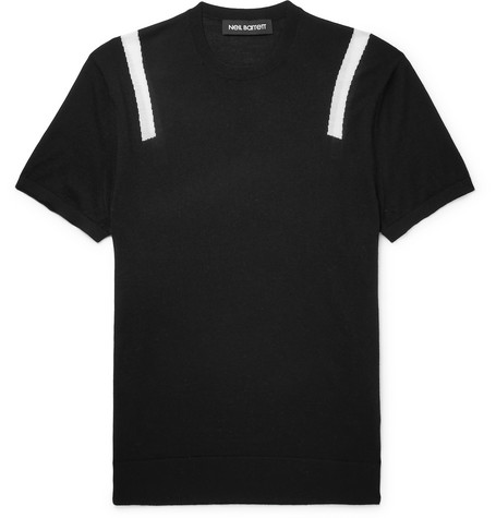 Knitted Wool, Silk And Cashmere-blend T-shirt Neil Barrett