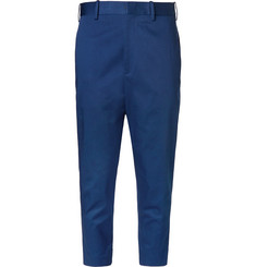 Neil Barrett Slim-Fit Cropped Stretch-Cotton Twill Trousers