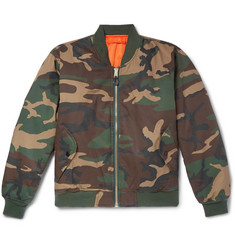 ALYX + Alpha Industries Embroidered Camouflage-Print Twill Bomber Jacket
