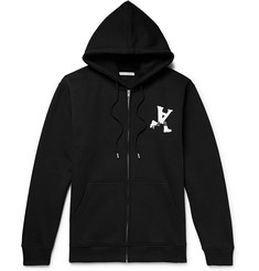 ALYX Printed Fleece-Back Cotton-Blend Jersey Zip-Up Hoodie