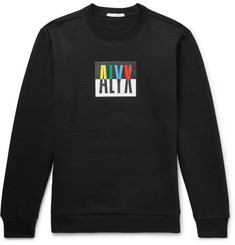 ALYX Printed Fleece-Back Cotton-Blend Jersey Sweatshirt