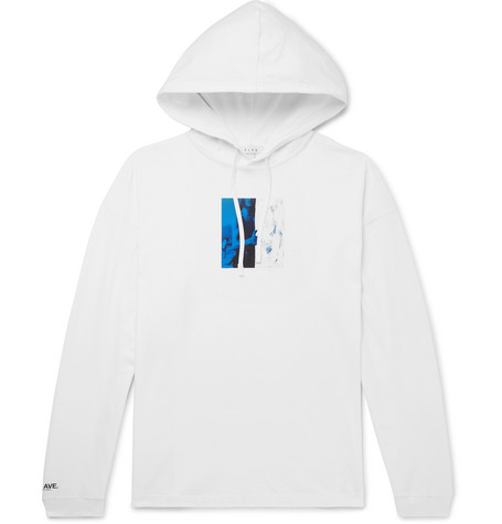 Alyx Printed Cotton-jersey Hoodie In White