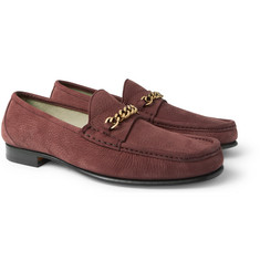 TOM FORD - York Chain-Trimmed Nubuck Loafers