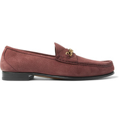 TOM FORD York Chain-Trimmed Nubuck Loafers
