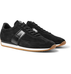 TOM FORD Orford Leather-Trimmed Suede Sneakers