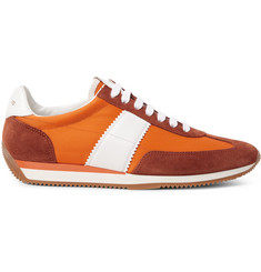 TOM FORD Orford Leather and Suede-Trimmed Nylon Sneakers
