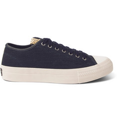 visvim Skagway Lo Dogi Woven Canvas and Leather Sneakers