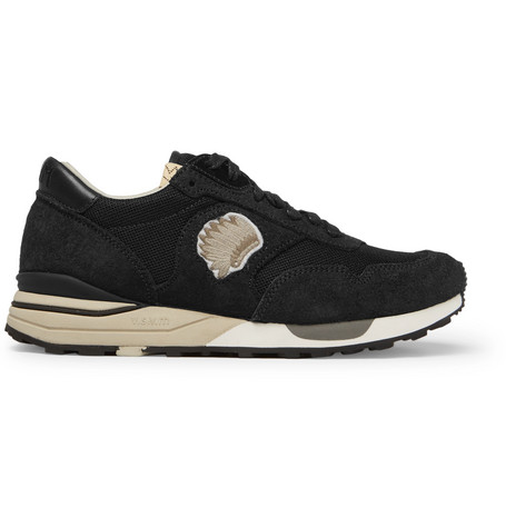 Visvim Roland Suede And Mesh Sneakers - Black  66ec83c2f
