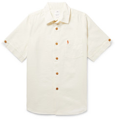 visvim Ellas Embellished Linen, Silk and Cotton-Blend Shirt