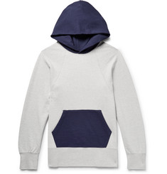 visvim Colour-Block Mélange Loopback Cotton-Jersey Hoodie