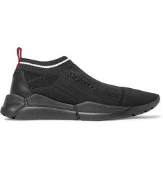 Moncler Stretch-Knit Slip-On Sneakers