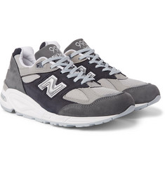 New Balance - 990V2 Nubuck and Mesh Sneakers