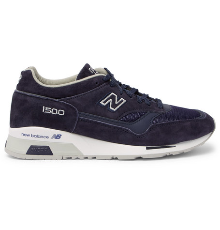 New Balance 1500 Suede, Leather And Mesh Sneakers In Navy