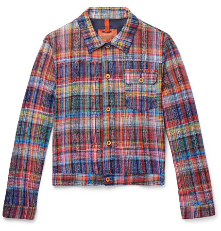 Missoni Checked Cotton Trucker Jacket, Blue