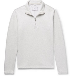 Reigning Champ Brushed Loopback Cotton-Jersey Half-Zip Sweatshirt