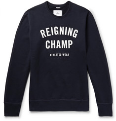 Reigning Champ Slim-Fit Printed Loopback Cotton-Jersey Sweatshirt