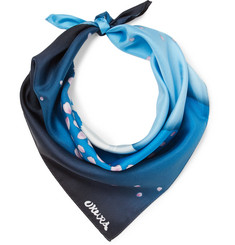 Blue Blue Japan Printed Silk-twill Bandana