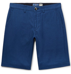 Blue Blue Japan Slim-Fit Indigo-Dyed Cotton Shorts