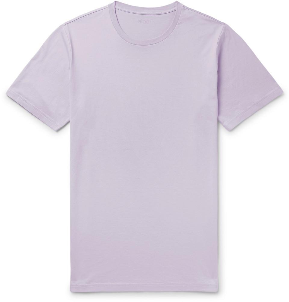 Classic Cotton-jersey T-shirt - Lavender