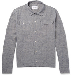 Albam Slub Cotton and Linen-Blend Shirt