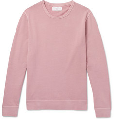 Officine Generale Garment-Dyed Loopback Cotton-Jersey Sweatshirt
