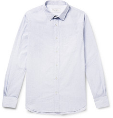 Officine Generale Checked Slub Cotton Shirt