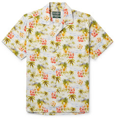Gitman Vintage Camp-Collar Floral-Print Matte-Satin Shirt