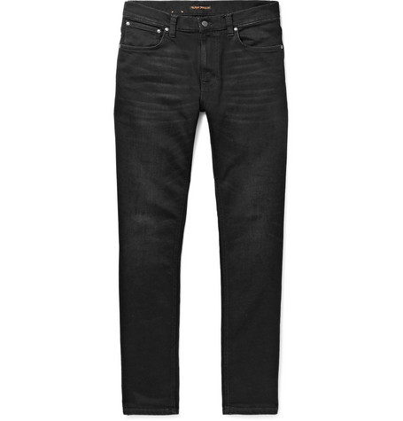 Lean Dean Skinny-fit Organic Stretch-denim Jeans - Dark denim