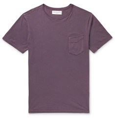 Officine Generale Slim-Fit Garment-Dyed Cotton-Jersey T-Shirt