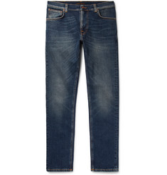Nudie Jeans Lean Dean Skinny-Fit Tapered Organic Stretch-Denim Jeans