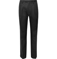 Saturdays NYC Pleated Linen and Cotton-Blend Trousers