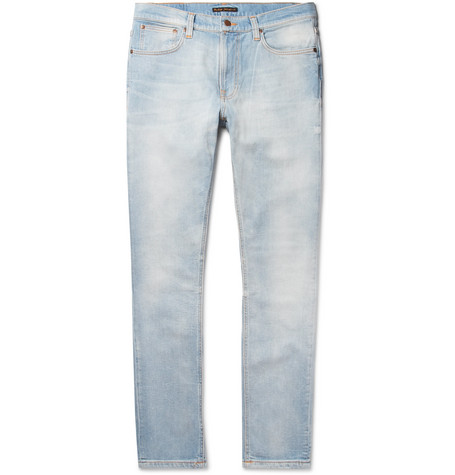 Lean Dean Skinny-fit Tapered Organic Stretch-denim Jeans - Light denim