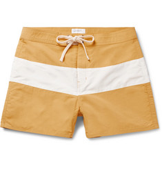 Saturdays NYC Grant Short-Length Striped Swim Shorts
