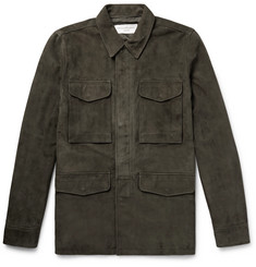 Officine Generale Paratrooper Slim-Fit Suede Field Jacket