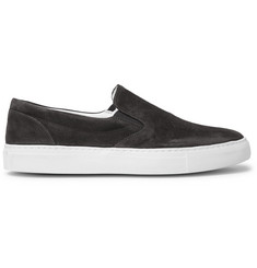 Officine Generale Stacey Suede Slip-On Sneakers