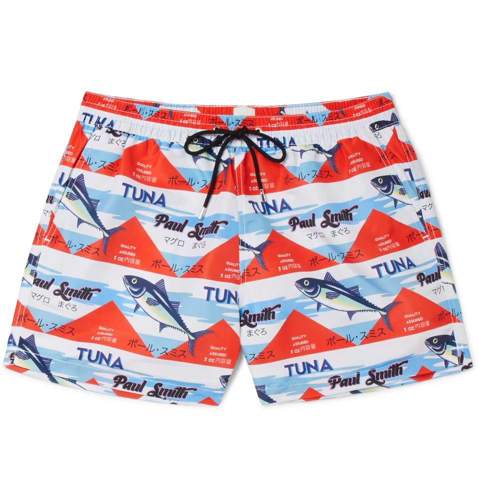 Short-length Printed Swim Shorts - Multi