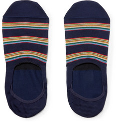Paul Smith Striped Stretch Cotton-Blend No-Show Socks