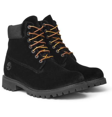 + Timberland Velvet Boots by Off White