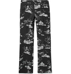 TAKAHIROMIYASHITA TheSoloist. Black Slim-Fit Printed Wool Suit Trousers